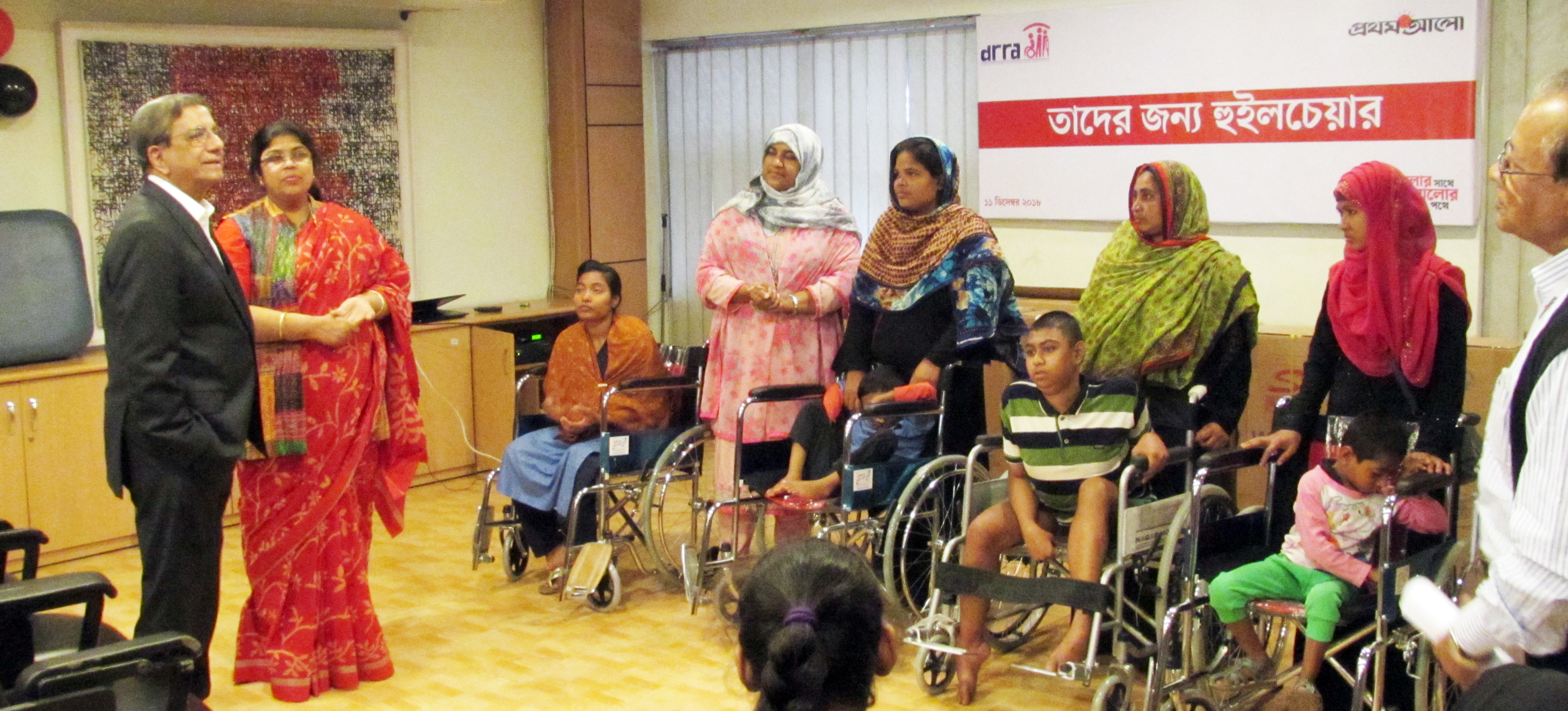 DRRA received 11 wheel chairs from Prothom Alo